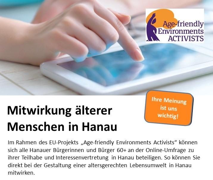 Start of AFE Online Survey in Hanau (EN+DE)